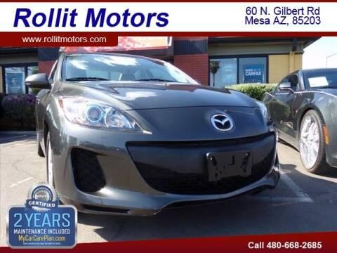 2013 Mazda MAZDA3 for sale at Rollit Motors in Mesa AZ
