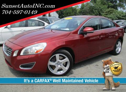 2013 Volvo S60 for sale at Sunset Auto in Charlotte NC