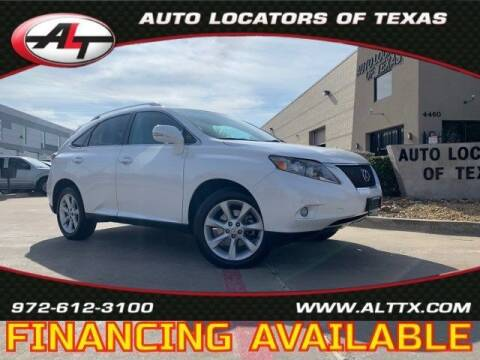 2011 Lexus RX 350 for sale at AUTO LOCATORS OF TEXAS in Plano TX