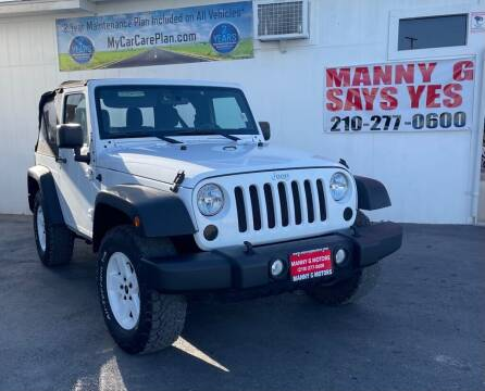2015 Jeep Wrangler for sale at Manny G Motors in San Antonio TX