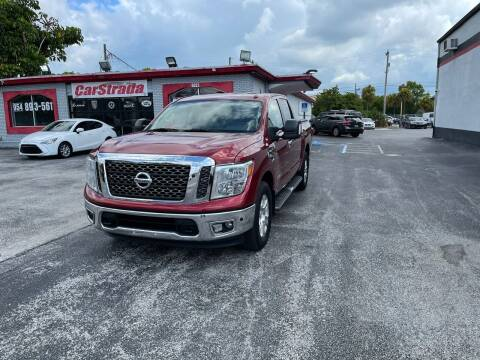 2017 Nissan Titan for sale at CARSTRADA in Hollywood FL