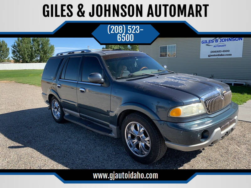 2001 Lincoln Navigator for sale at GILES & JOHNSON AUTOMART in Idaho Falls ID