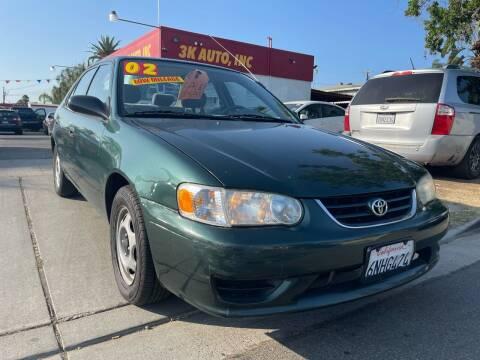 2002 Toyota Corolla for sale at 3K Auto in Escondido CA