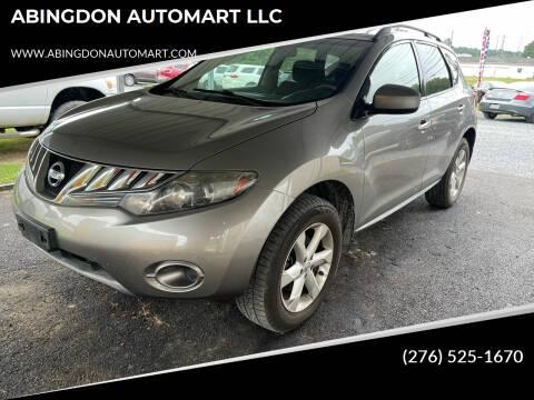 2009 Nissan Murano for sale at ABINGDON AUTOMART LLC in Abingdon VA