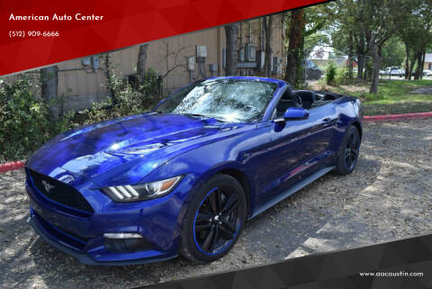2015 Ford Mustang for sale at American Auto Center in Austin TX