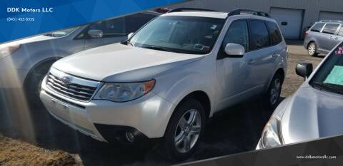 2010 Subaru Forester for sale at DDK Motors LLC in Rock Hill NY