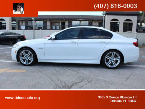 2015 BMW 5 Series for sale at Ride On Auto in Orlando FL