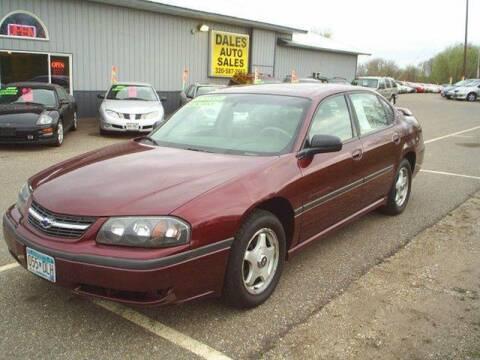 2000 Chevrolet Impala for sale at Dales Auto Sales in Hutchinson MN
