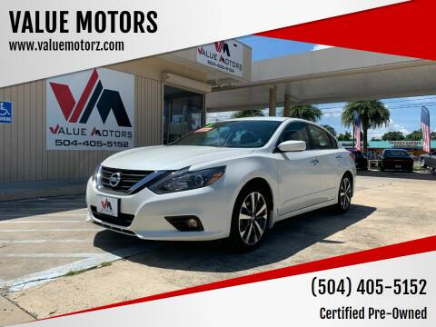 2018 Nissan Altima for sale at VALUE MOTORS in Kenner LA