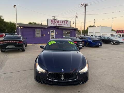2015 Maserati Ghibli for sale at Quality Auto Sales LLC in Garland TX