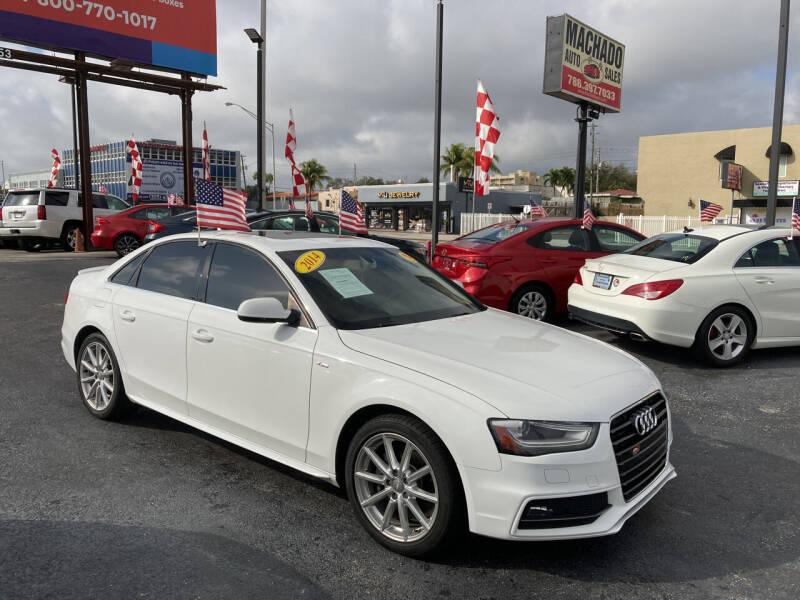 2014 Audi A4 for sale at MACHADO AUTO SALES in Miami FL
