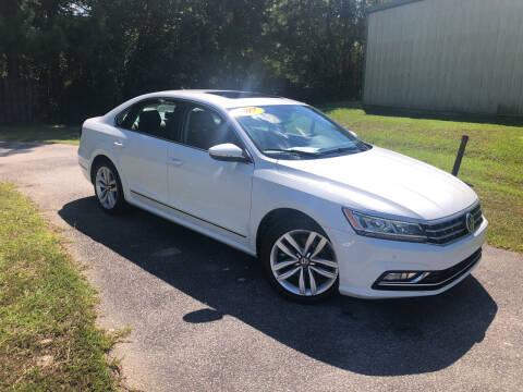 2017 Volkswagen Passat for sale at J. MARTIN AUTO in Richmond Hill GA