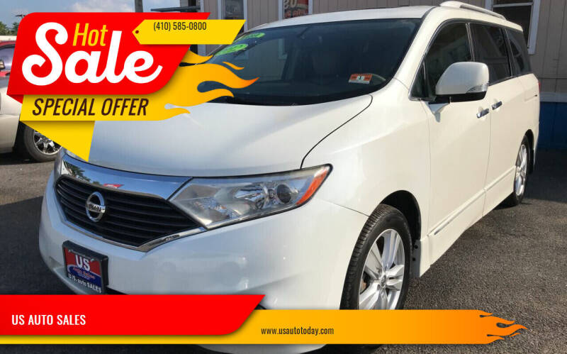 2012 Nissan Quest for sale at US AUTO SALES in Baltimore MD