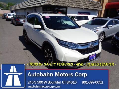 2018 Honda CR-V for sale at Autobahn Motors Corp in Bountiful UT
