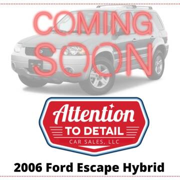 2006 Ford Escape Hybrid for sale at Attention to Detail - Car Sales, LLC in Ogden UT
