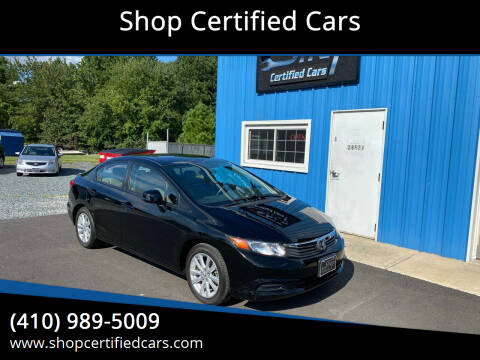 2012 Honda Civic for sale at Shop Certified Cars in Easton MD