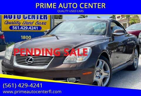 2008 Lexus SC 430 for sale at PRIME AUTO CENTER in Palm Springs FL