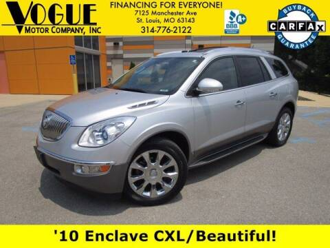 2010 Buick Enclave for sale at Vogue Motor Company Inc in Saint Louis MO