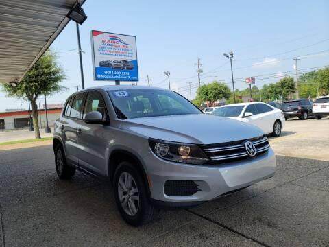 2013 Volkswagen Tiguan for sale at Magic Auto Sales in Dallas TX