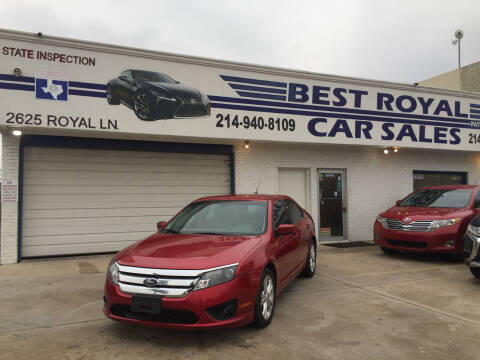 2012 Ford Fusion for sale at Best Royal Car Sales in Dallas TX