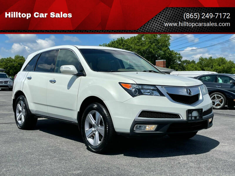 2013 Acura MDX for sale at Hilltop Car Sales in Knox TN
