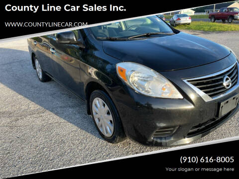 2013 Nissan Versa for sale at County Line Car Sales Inc. in Delco NC