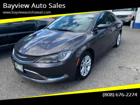 2015 Chrysler 200 for sale at Bayview Auto Sales in Waipahu HI