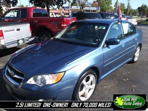 2009 Subaru Legacy for sale at Oak Hill Auto Sales of Wooster, LLC in Wooster OH