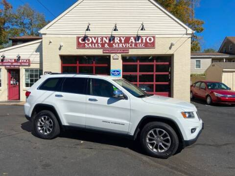 2015 Jeep Grand Cherokee for sale at COVENTRY AUTO SALES in Coventry CT