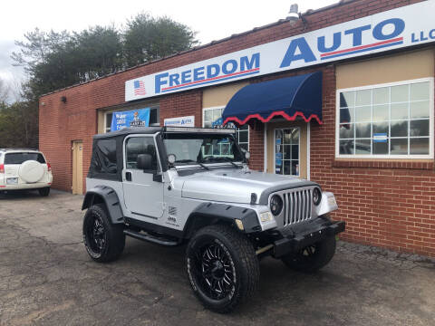 2004 Jeep Wrangler for sale at FREEDOM AUTO LLC in Wilkesboro NC