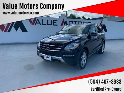 2014 Mercedes-Benz M-Class for sale at Value Motors Company in Marrero LA