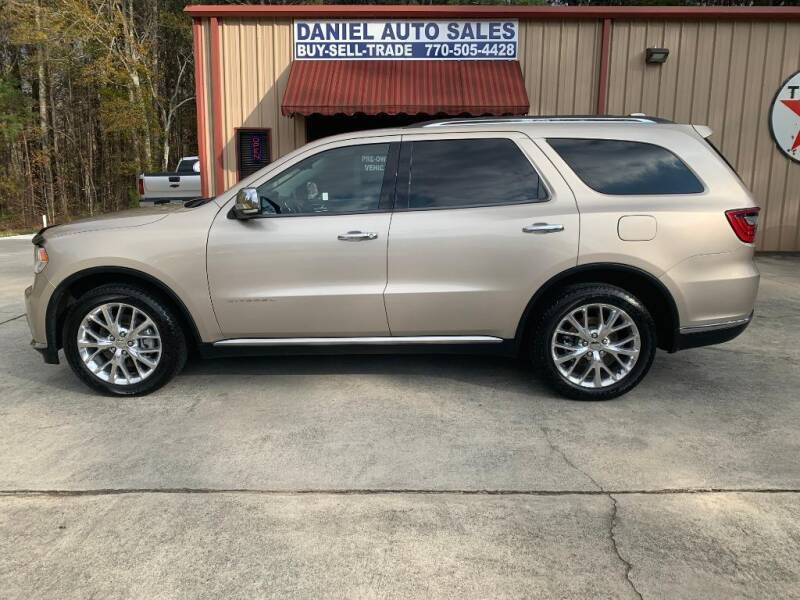 2015 Dodge Durango for sale at Daniel Used Auto Sales in Dallas GA