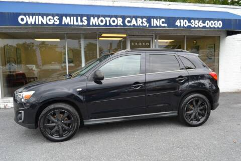 2014 Mitsubishi Outlander Sport for sale at Owings Mills Motor Cars in Owings Mills MD