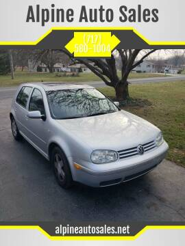 2001 Volkswagen Golf for sale at Alpine Auto Sales in Carlisle PA