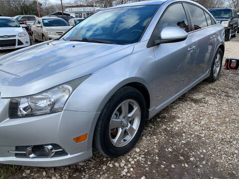 2012 Chevrolet Cruze for sale at BULLSEYE MOTORS INC in New Braunfels TX