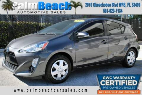 2015 Toyota Prius c for sale at Palm Beach Automotive Sales in West Palm Beach FL