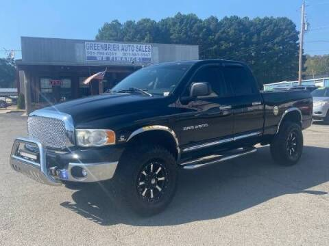 2005 Dodge Ram Pickup 2500 for sale at Greenbrier Auto Sales in Greenbrier AR