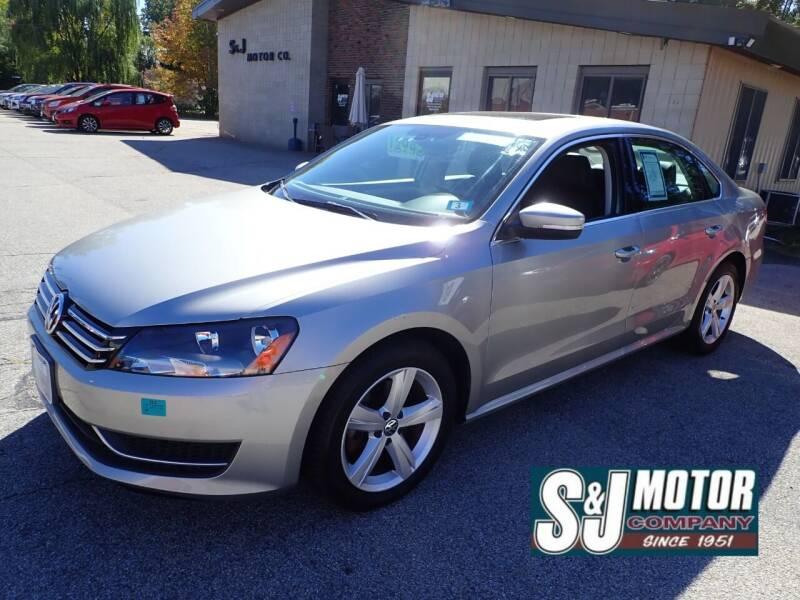 2013 Volkswagen Passat for sale at S & J Motor Co Inc. in Merrimack NH