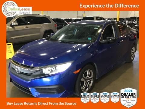 2016 Honda Civic for sale at Dallas Auto Finance in Dallas TX