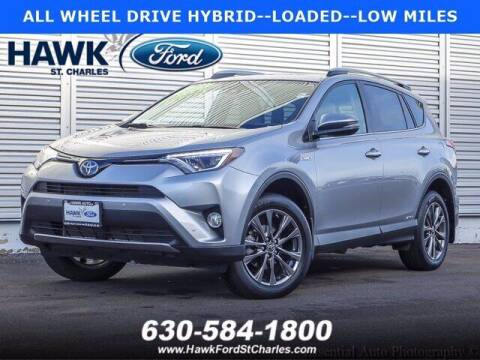 2018 Toyota RAV4 Hybrid for sale at Hawk Ford of St. Charles in St Charles IL