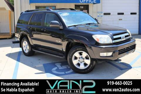 2005 Toyota 4Runner for sale at Van 2 Auto Sales Inc in Siler City NC