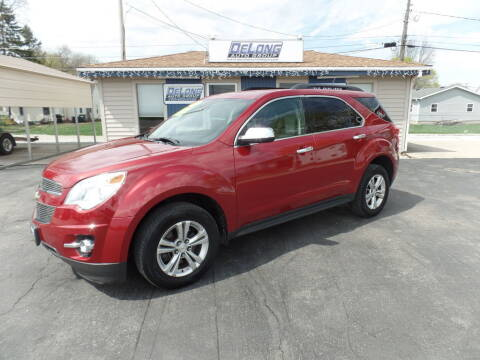 2013 Chevrolet Equinox for sale at DeLong Auto Group in Tipton IN