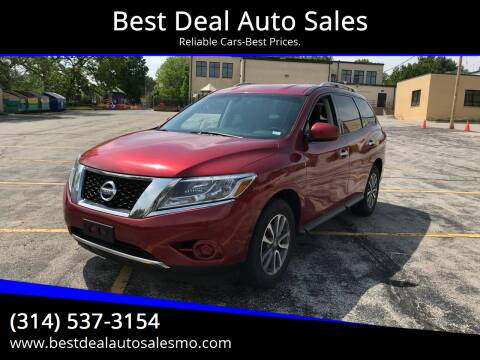 2014 Nissan Pathfinder for sale at Best Deal Auto Sales in Saint Charles MO