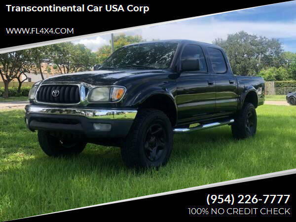 2002 Toyota Tacoma for sale at Transcontinental Car USA Corp in Fort Lauderdale FL