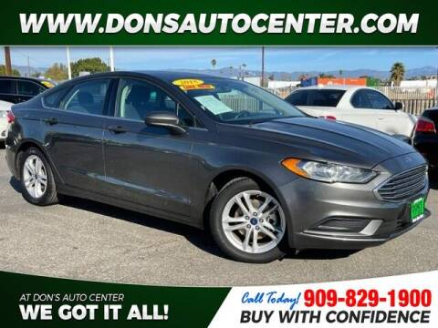 2018 Ford Fusion for sale at Dons Auto Center in Fontana CA