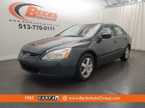 2005 Honda Accord for sale at Becks Auto Group in Mason OH
