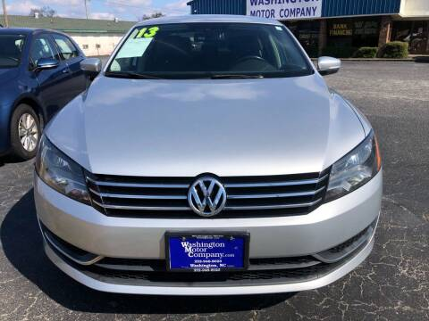 2013 Volkswagen Passat for sale at Greenville Motor Company in Greenville NC