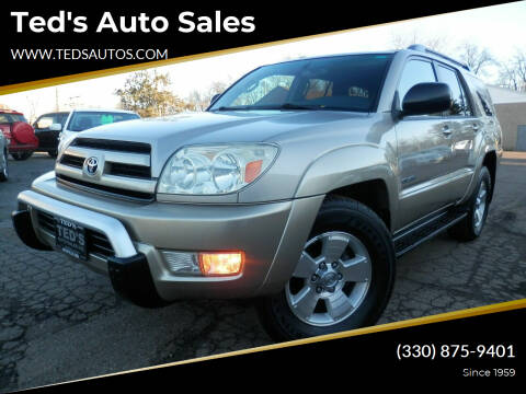 2004 Toyota 4Runner for sale at Ted's Auto Sales in Louisville OH