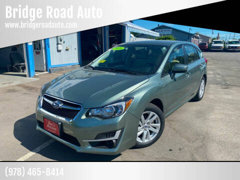 2016 Subaru Impreza for sale at Bridge Road Auto in Salisbury MA