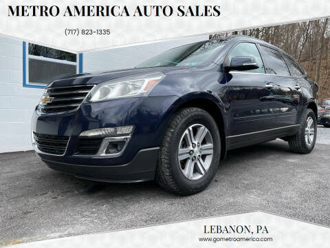 2015 Chevrolet Traverse for sale at METRO AMERICA AUTO SALES of Lebanon in Lebanon PA